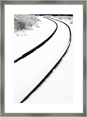 Winter Tracks Framed Print