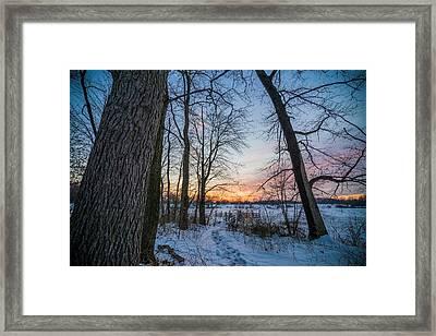 Winter Trails Framed Print by Kristopher Schoenleber