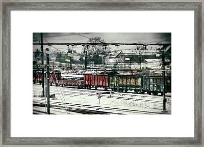 Winter Transport Framed Print by Wim Lanclus