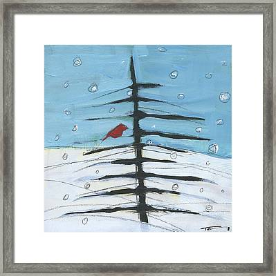Winter Tree Bird 2 Framed Print by Tim Nyberg