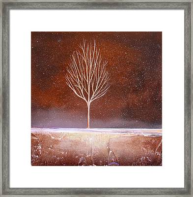 Winter Tree Framed Print by Toni Grote