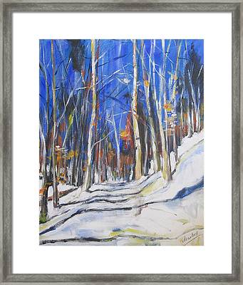 Framed Print featuring the painting Winter Trees by Debora Cardaci