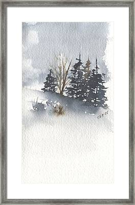 Winter Trees Framed Print by Jan Anderson