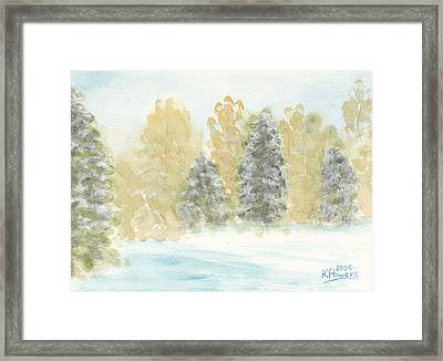 Winter Trees Framed Print by Ken Powers