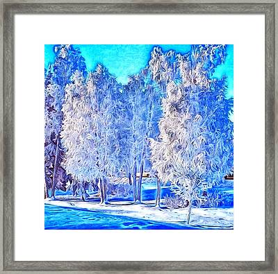 Winter Trees Framed Print by Ron Bissett