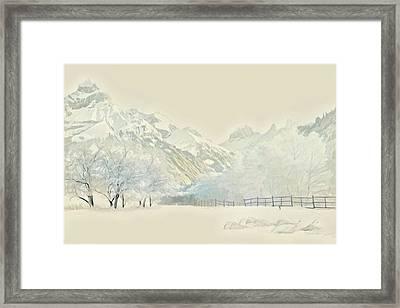 Winter Treescape Framed Print by Russ Harris