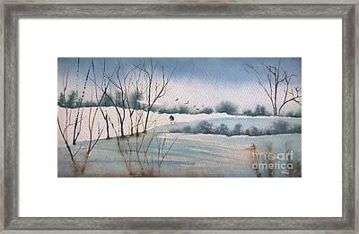 Winter Hike  Framed Print