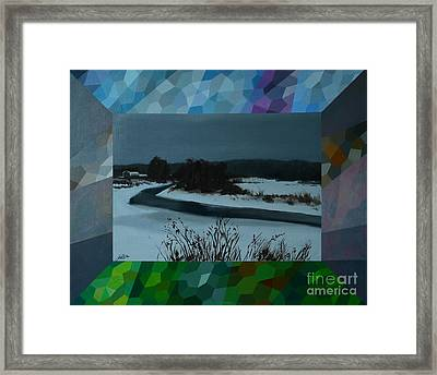 Winter Twilight Framed Print by Jukka Nopsanen