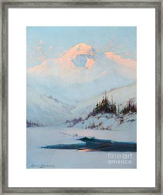 Winter Twilight On Mt. Mckinley Framed Print by MotionAge Designs
