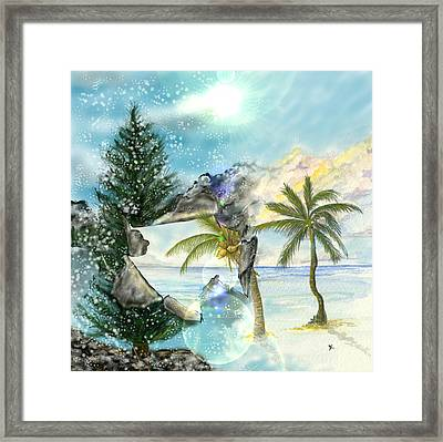 Framed Print featuring the digital art Winter Vacation by Darren Cannell