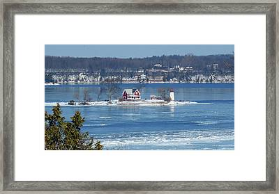 Winter View Of Crossover Island Framed Print