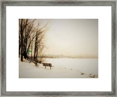 Winter View Over Montreal Framed Print