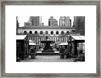 Winter Village At Bryant Park Framed Print by John Rizzuto