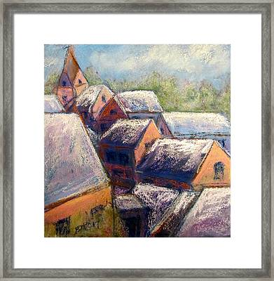 Winter Village Framed Print