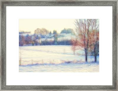 Winter Village Framed Print by Jutta Maria Pusl