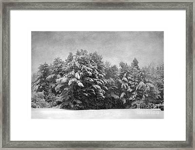 Winter Vintage Framed Print