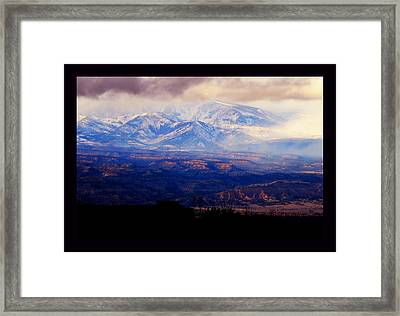 Winter Vista Framed Print by Susanne Still