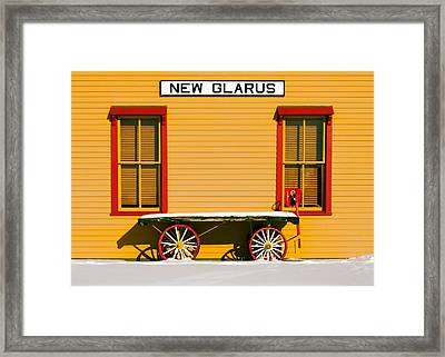Winter Wagon Framed Print