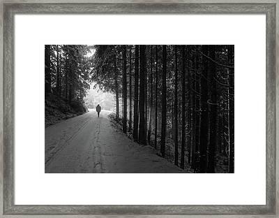 Winter Walk - Austria Framed Print by Mountain Dreams