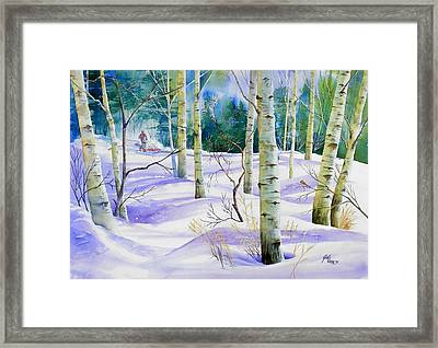 Winter Walk Framed Print by Gail Vass