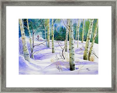 Winter Walk Framed Print by Gail Vass