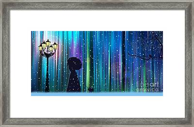 Winter Walk In The Magical Forest Framed Print