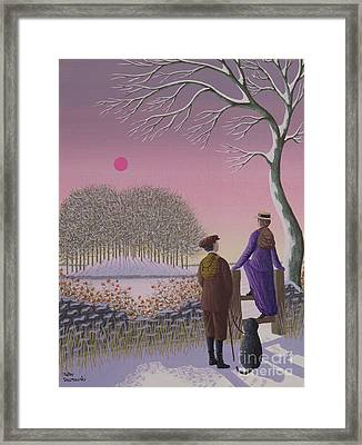 Winter Walking  Framed Print by Peter Szumowski