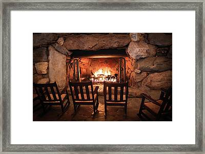Winter Warmth Framed Print by Karen Wiles