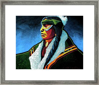 Winter Warrior Framed Print by Lance Headlee