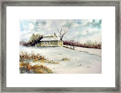 Winter Washday Framed Print by Sam Sidders