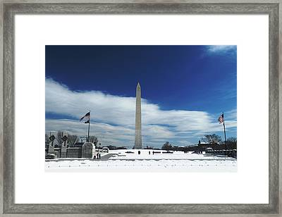 Winter Washington Monument Framed Print