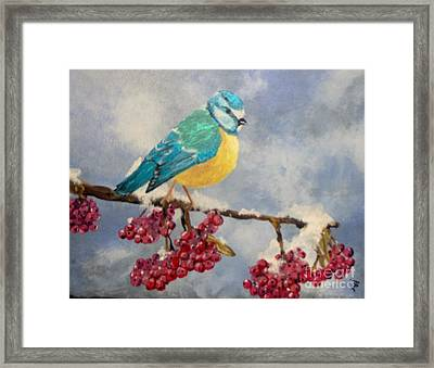 Framed Print featuring the painting Winter Watch by Saundra Johnson