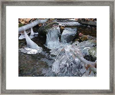 Winter Water Flow 4 Framed Print