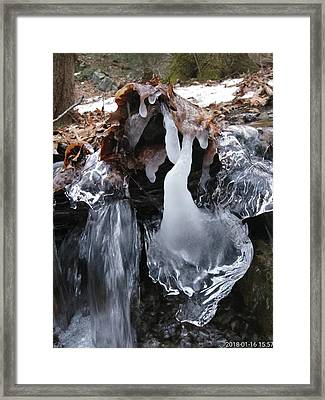 Winter Water Flow 5 Framed Print
