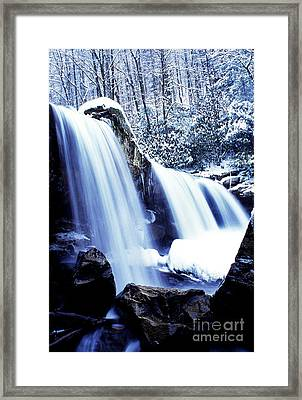 Winter Waterfall Framed Print by Thomas R Fletcher