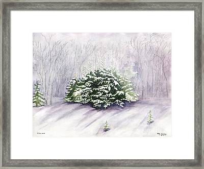 Framed Print featuring the painting Winter Wind by Melly Terpening