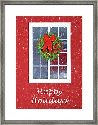 Winter Window - 3 Framed Print by Nikolyn McDonald