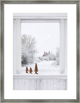 Winter Window Framed Print by Amanda Elwell