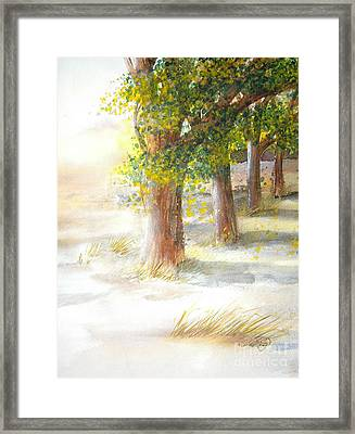 Winter Winds Framed Print by Vivian  Mosley