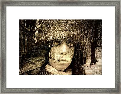 Winter Witch Framed Print