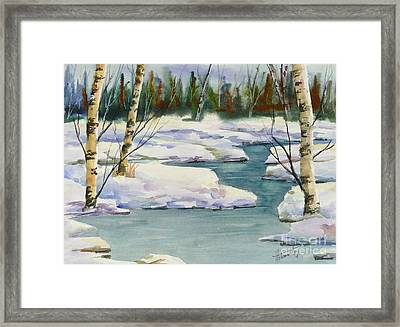 Cool Winter -  Watercolour Framed Print by Mohamed Hirji