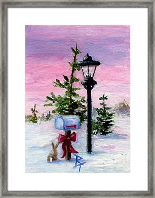 Winter Wonderland Aceo Framed Print by Brenda Thour