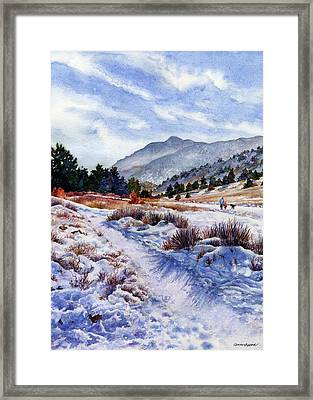 Winter Wonderland Framed Print by Anne Gifford