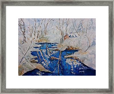Winter Wonderland Catskills  Framed Print by Ellen Levinson