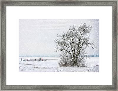 Winter Wonderland Frozen Lake Framed Print