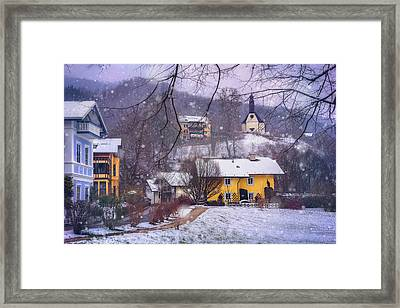 Winter Wonderland In Mondsee Austria  Framed Print
