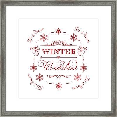 Winter Wonderland Let It Snow Framed Print by Antique Images