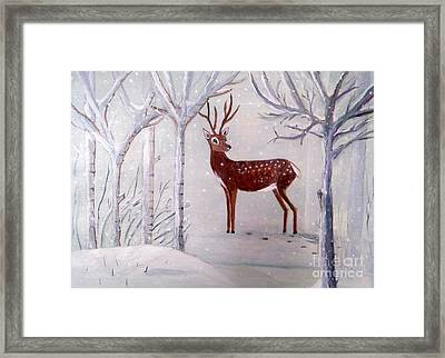 Winter Wonderland - Painting Framed Print by Veronica Rickard