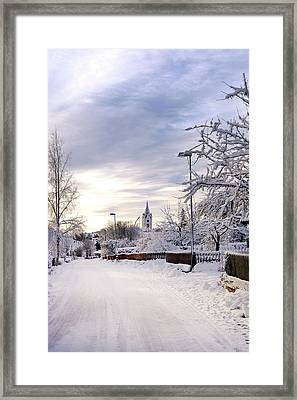 Winter Wonderland Redux Framed Print by Marius Sipa