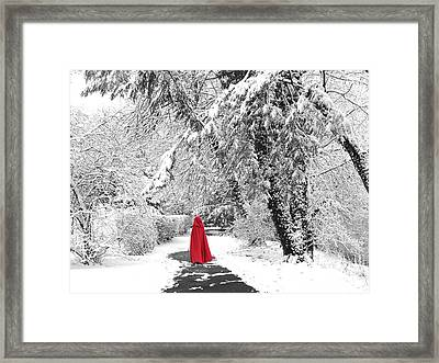 Winter Wonderland Walk II Framed Print